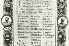 Leigh Hall - Roll of Honour WW1