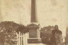 Monument to Willie Brown drowned 1912. Chief Tenetahi Pohuehue and wife Rahui Te Kiri