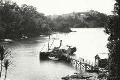 Wharf, old Maori Pa in distance