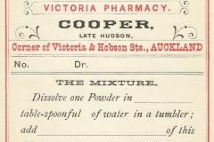Cooper. Victoria Pharmacy, Auckland Mixture.