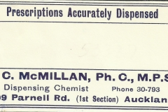 McMillan label, Parnell