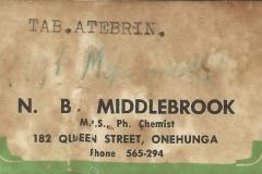 Middlebrook label, Onehunga. Demolition