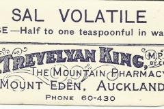 Trevelyan King Label. Mt Eden