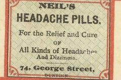 Neil's Botanic Disensary Dunedin Headache pills