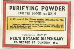 Neil's Botanic Disensary Dunedin