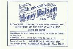 Wilkinson Chemist Dunedin Balsam