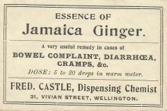 Castle Label. Wellington Jamaica Ginger